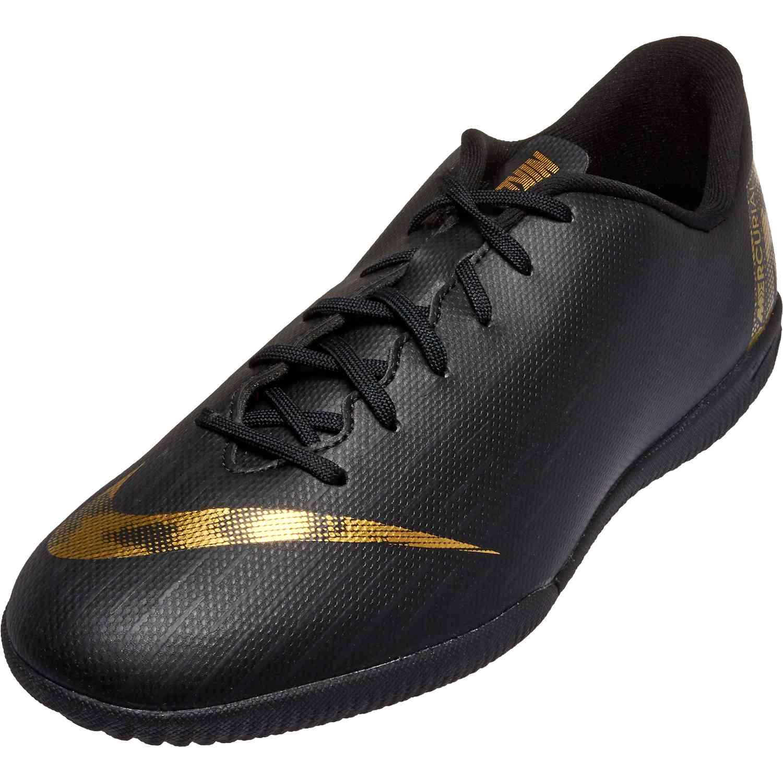 ce9fe4490a1 Kids Nike Mercurial Vapor 12 Academy IC - Black Lux - SoccerPro