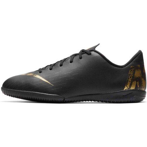 Kids Nike Mercurial Vapor 12 Academy IC – Black Lux