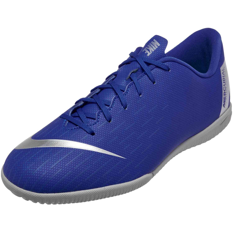 Nike Mercurial VaporX 12 Academy IC – Youth – Racer BlueMetallic SilverBlackVolt