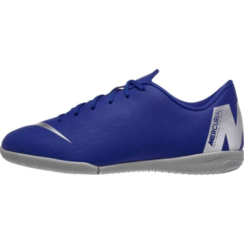 Nike Mercurial VaporX 12 Academy IC – Youth – Racer Blue/Metallic Silver/Black/Volt
