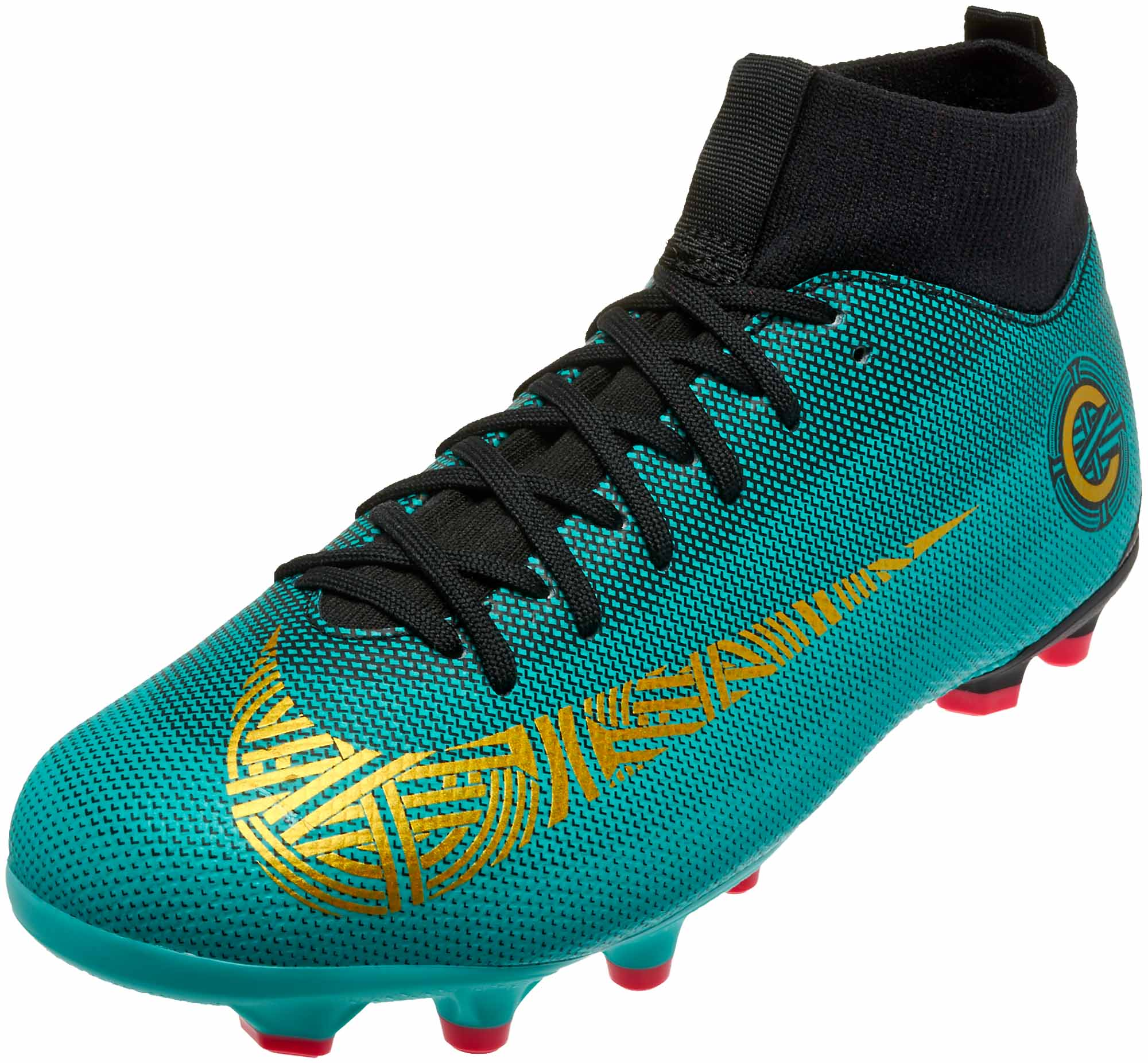 pretty nice 5b392 6ac1b Nike Mercurial Superfly 6 Academy MG – CR7 – Youth – Clear Jade/Metallic  Vivid Gold/Black