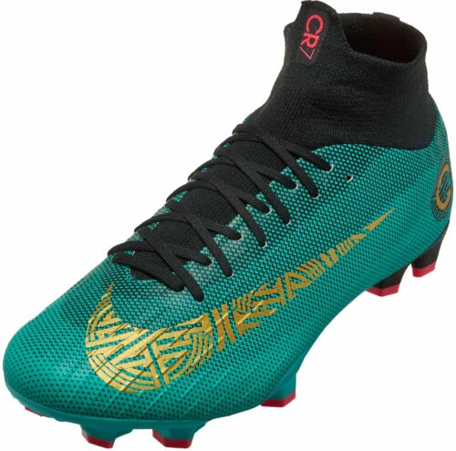 Nike Mercurial Superfly 6 Pro FG – CR7 – Clear Jade/Metallic Vivid Gold