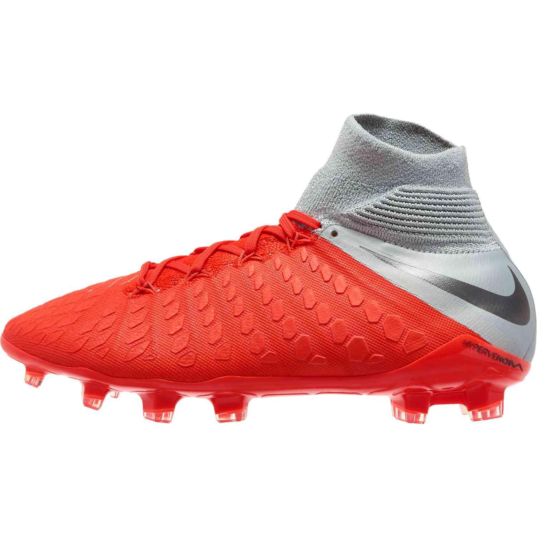 8228e93401ac Nike Hypervenom Phantom 3 Elite DF FG – Youth – Light Crimson Metallic Dark  Grey