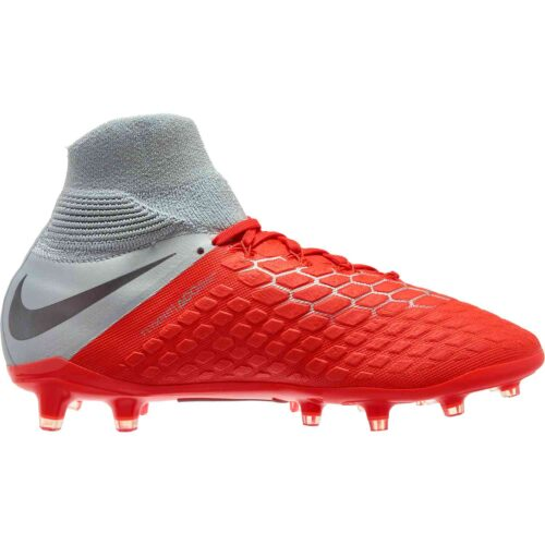 Nike Hypervenom Phantom 3 Elite DF FG – Youth – Light Crimson/Metallic Dark Grey/Wolf Grey