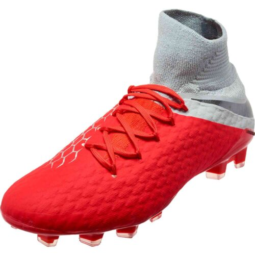 Nike Hypervenom Phantom 3 Pro DF FG – Light Crimson/Metallic Dark Grey/Wolf Grey