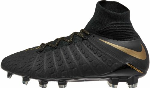 Nike Hypervenom Phantom III Elite DF FG – Black/Metallic Vivid Gold