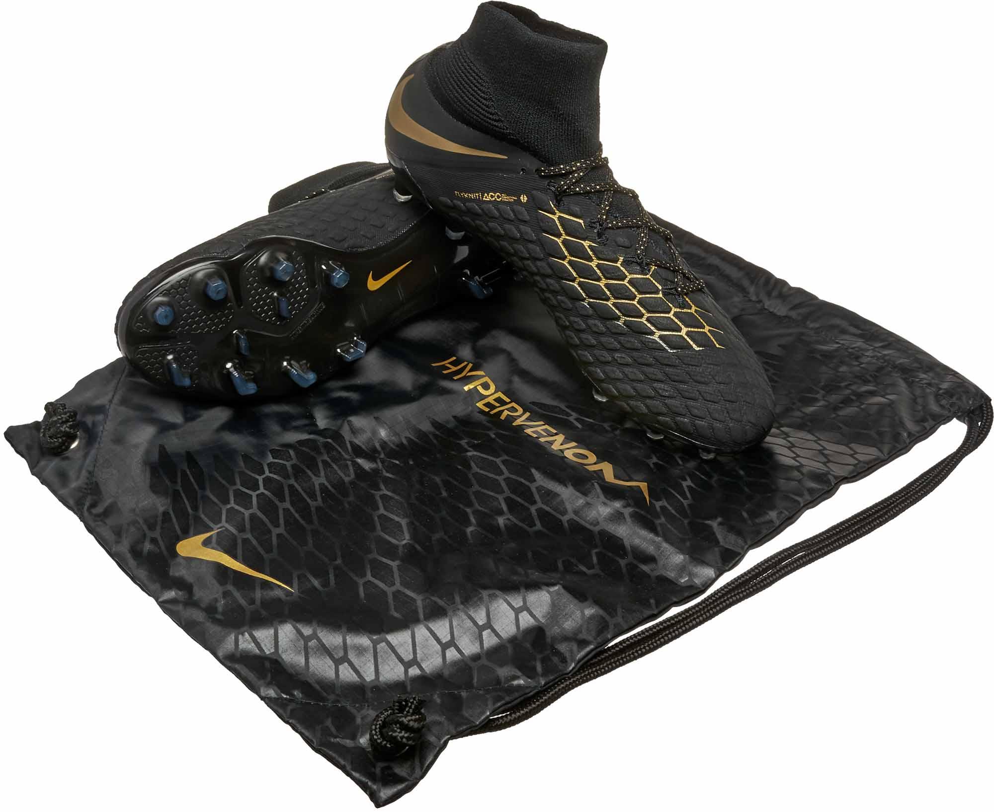 Nike Hypervenom Phantom III - Black/Metallic Vivid Gold ...
