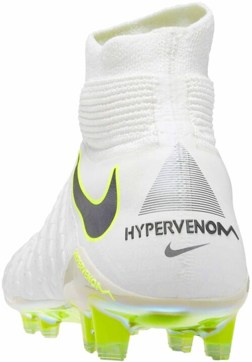 Nike Hypervenom Phantom III Elite DF FG – White/Metallic Cool Grey