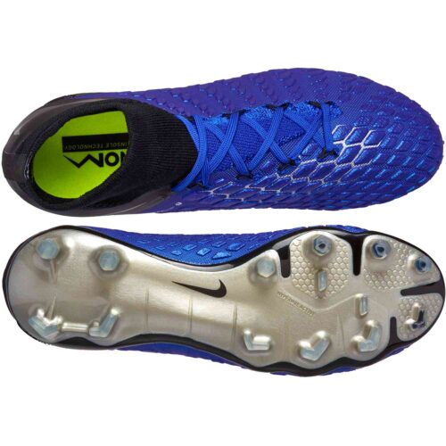 Nike Phantom 3 Elite DF FG – Racer Blue/Metallic Silver/Black/Volt