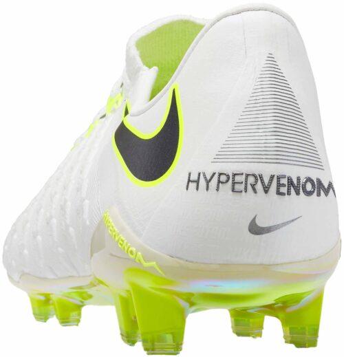 Nike Hypervenom Phantom III Elite FG – White/Metallic Cool Grey
