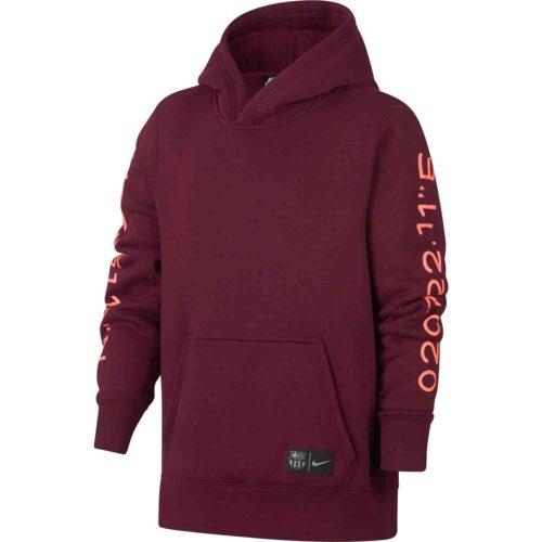 Nike Barcelona Hoodie – Youth – Deep Maroon
