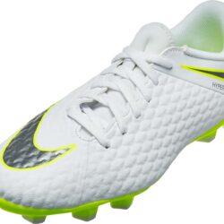 huge selection of 0c6a3 be028 Nike Hypervenom Phantom 3 Academy FG - Youth - White/Volt ...