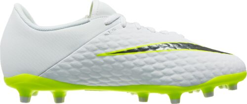 Nike Hypervenom Phantom 3 Academy FG – Youth – White/Volt