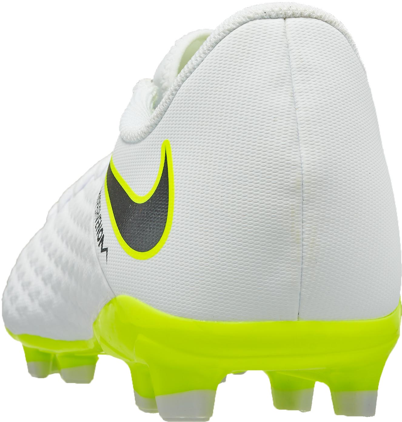 save off ace65 b3ce2 Nike Hypervenom Phantom 3 Academy FG - Youth - White/Volt - SoccerPro