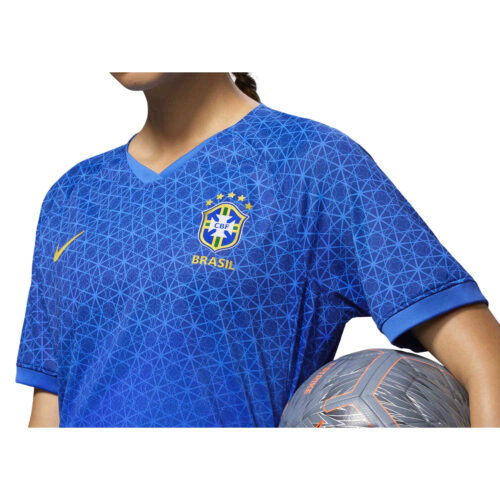 2019 Womens Nike Brazil Away Match Jersey