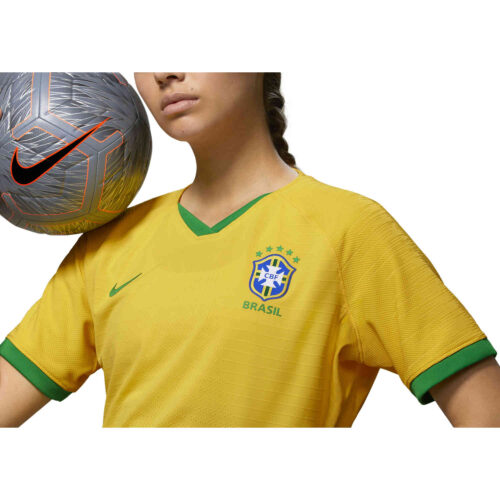 2019 Womens Nike Brazil Home Match Jersey