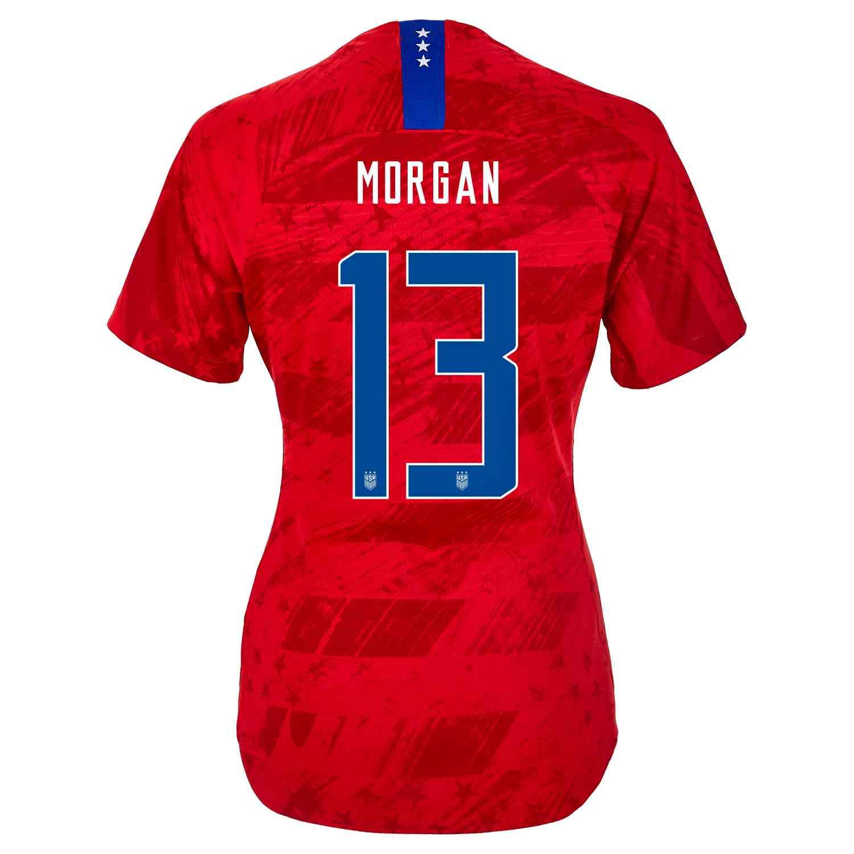 210145e12f369 2019 Womens Nike Alex Morgan USWNT Away Match Jersey - SoccerPro