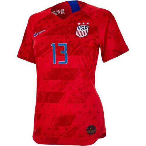 2019 Womens Nike Alex Morgan USWNT Away Match Jersey