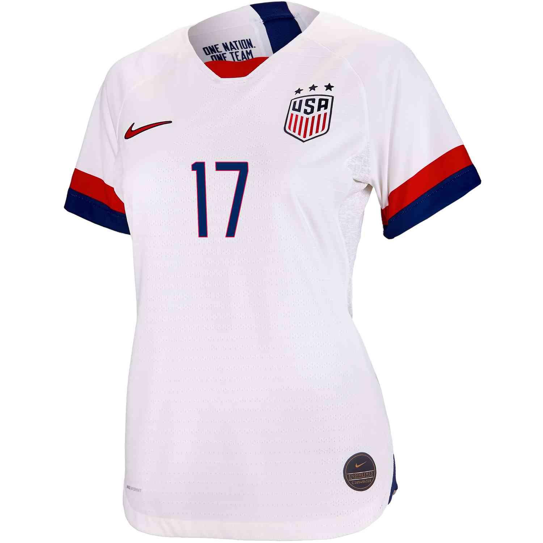 421837743ad 2019 Womens Nike Tobin Heath USWNT Home Match Jersey - SoccerPro