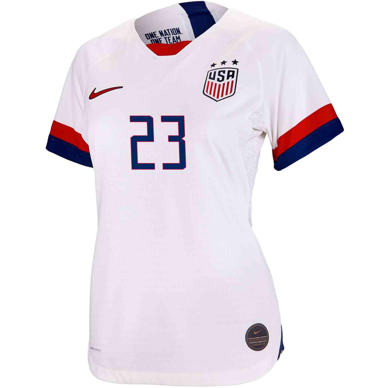 0c3633fe723a5 2019 Womens Nike Christen Press USWNT Home Match Jersey - SoccerPro