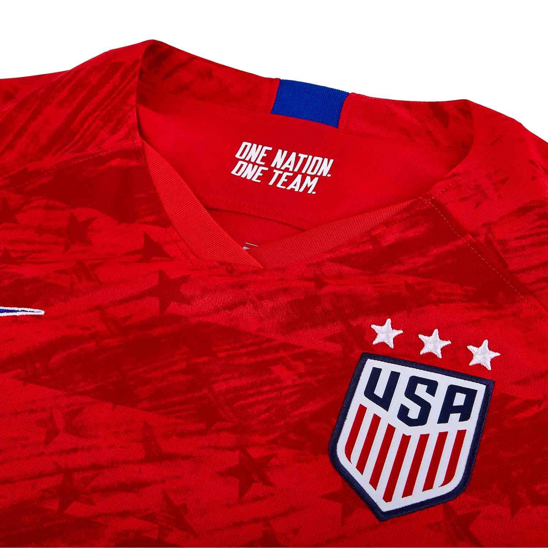 reputable site 9eda3 84eef 2019 Womens Nike Christen Press USWNT Away Jersey - SoccerPro
