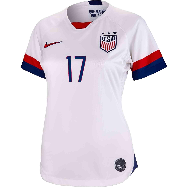 d493a3e6862 2019 Womens Nike Tobin Heath USWNT Home Jersey - SoccerPro