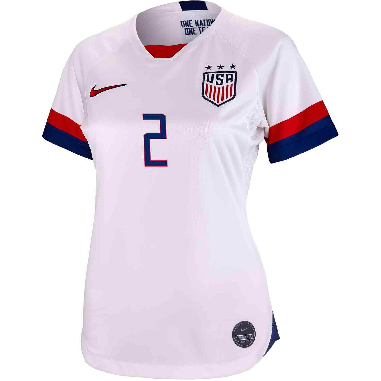 e41fb619056 2019 Womens Nike Mallory Pugh USWNT Home Jersey - SoccerPro