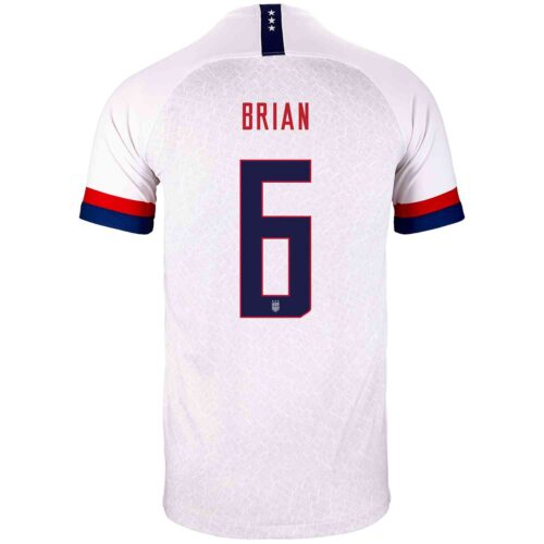 2019 Kids Nike Morgan Brian USA Home Jersey