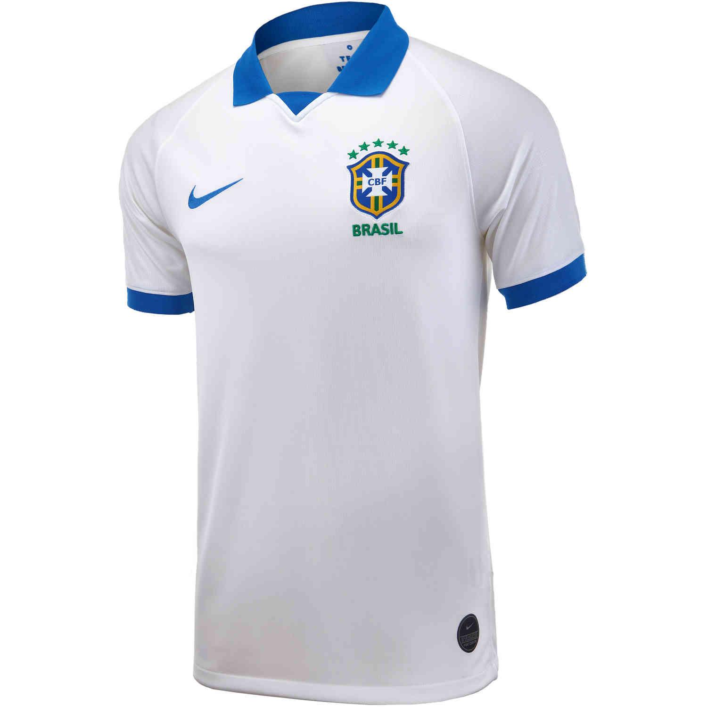c3a5ea69bc5 2019 Nike Copa America Brazil Away Jersey - SoccerPro