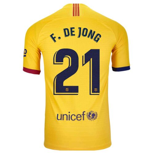 2019/20 Nike Frenkie De Jong Barcelona Away Match Jersey