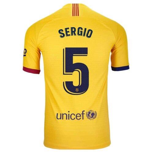 2019/20 Nike Sergio Busquets Barcelona Away Match Jersey