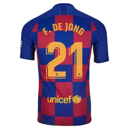 2019/20 Nike Frenkie De Jong Barcelona Home Match Jersey