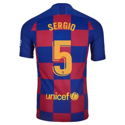 2019/20 Nike Sergio Busquets Barcelona Home Match Jersey