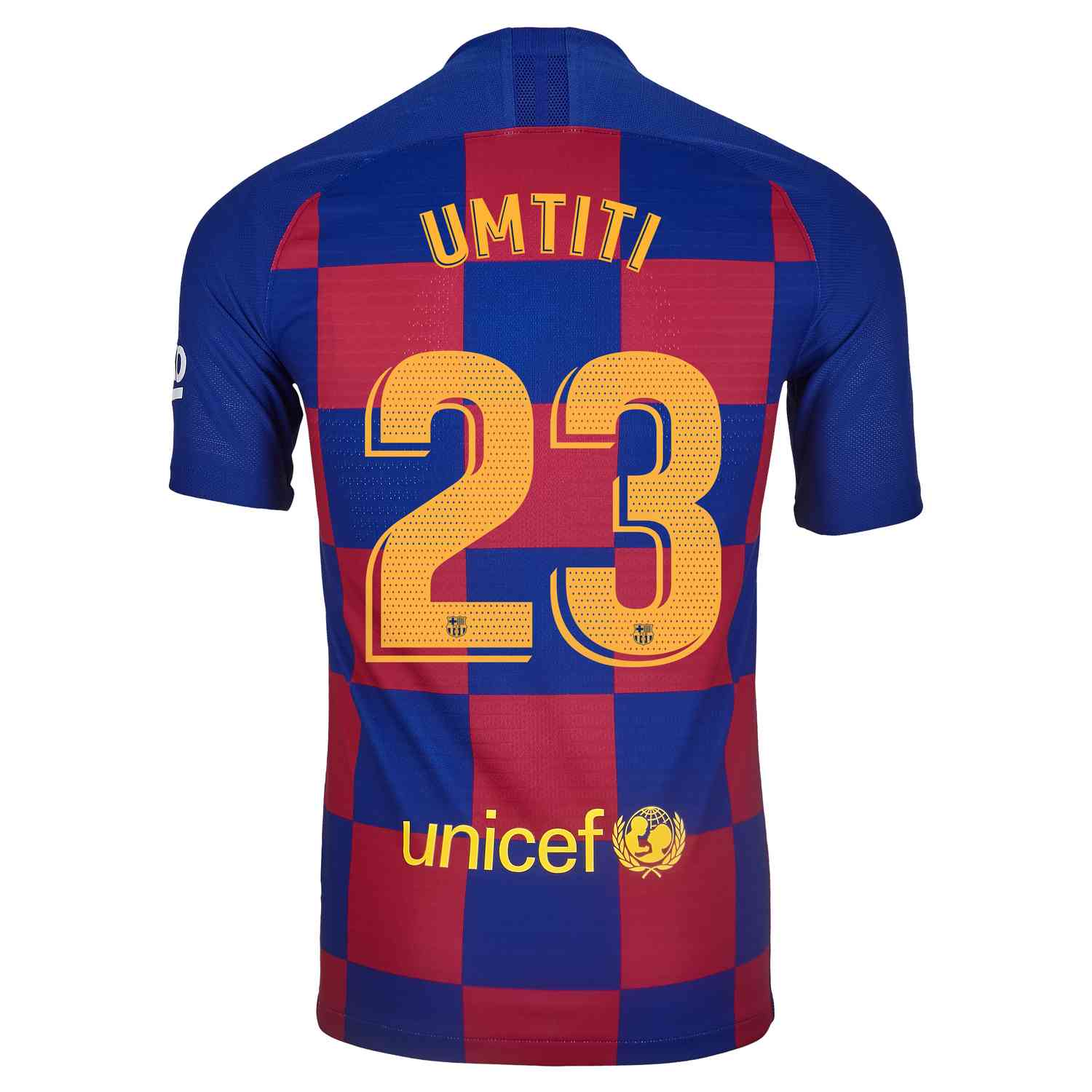 factory authentic e12c4 7d759 2019/20 Nike Samuel Umtiti Barcelona Home Match Jersey ...
