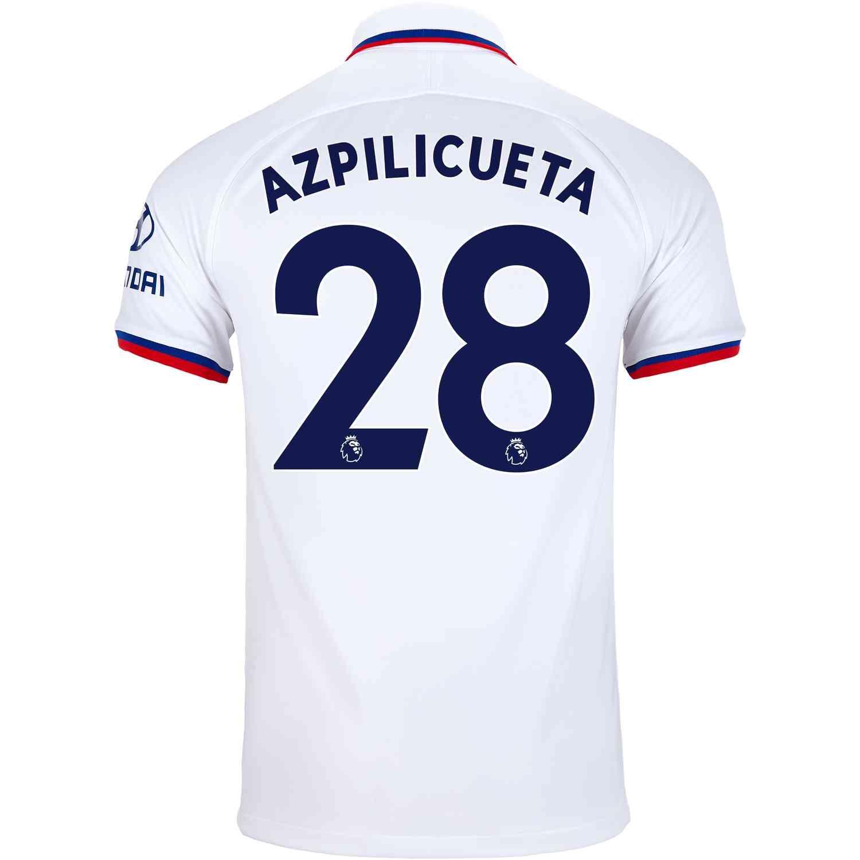 hot sales 263d1 38a73 2019/20 Nike Cesar Azpilicueta Chelsea Away Jersey - SoccerPro