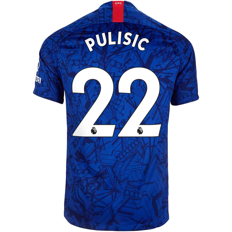 sale retailer e5ee1 4b72b 2019/20 Nike Christian Pulisic Chelsea Home Jersey - SoccerPro