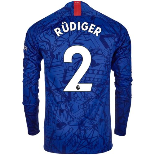 2019/20 Nike Antonio Rudiger Chelsea L/S Home Jersey