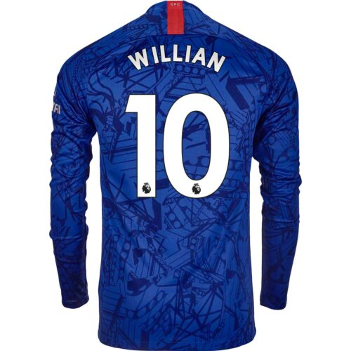 2019/20 Nike Willian Chelsea L/S Home Jersey