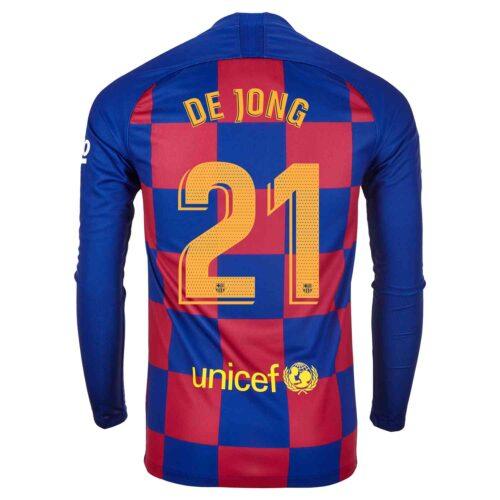 2019/20 Nike Frenkie de Jong Barcelona L/S Home Jersey