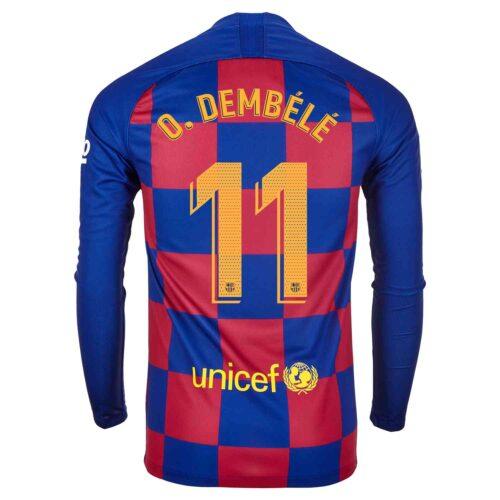 2019/20 Nike Ousmane Dembele Barcelona L/S Home Jersey