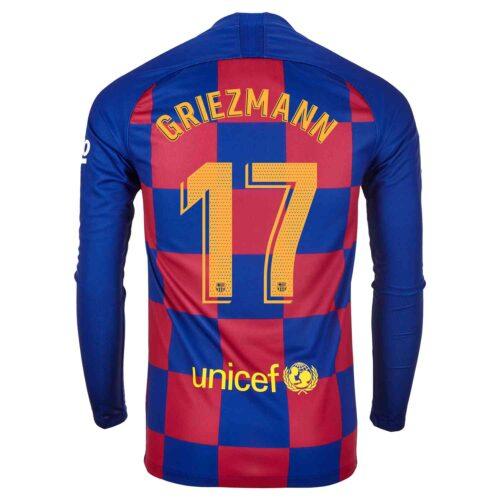 2019/20 Nike Antoine Griezmann Barcelona L/S Home Jersey