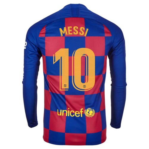 2019/20 Nike Lionel Messi Barcelona L/S Home Jersey