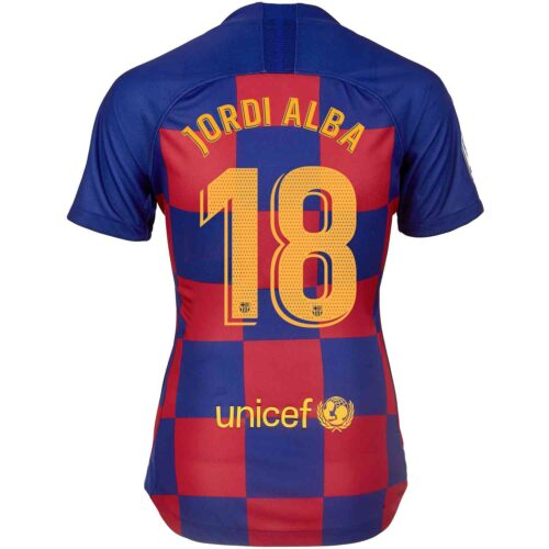 2019/20 Womens Nike Jordi Alba Barcelona Home Jersey