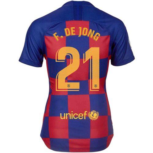 2019/20 Womens Nike Frenkie De Jong Barcelona Home Jersey