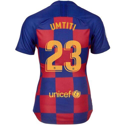 2019/20 Womens Nike Samuel Umtiti Barcelona Home Jersey