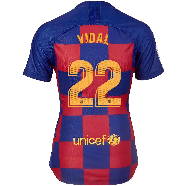 the latest 02520 c5c60 2019/20 Womens Nike Arturo Vidal Barcelona Home Jersey ...