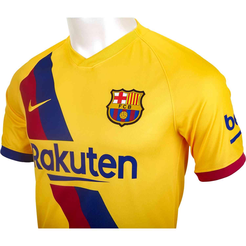 uk availability 08d22 df7df 2019/20 Kids Nike Barcelona Away Jersey - SoccerPro