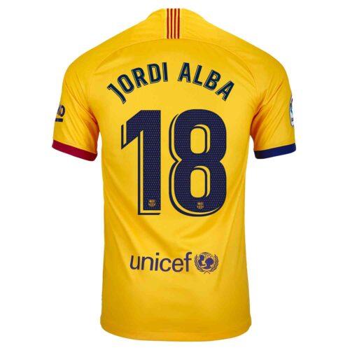 2019/20 Kids Nike Jordi Alba Barcelona Away Jersey