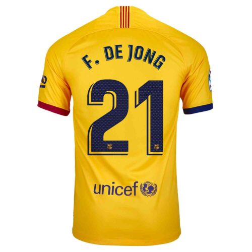 2019/20 Kids Nike Frenkie De Jong Barcelona Away Jersey