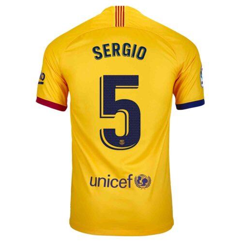 2019/20 Kids Nike Sergio Busquets Barcelona Away Jersey